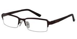 EBE Reading Glasses Mens Womens Rectangular Half Rim Spring Hinge Brown ... - $44.09+