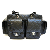 CHANEL Black Quilted Cambon Reporter Handbag 100% Auth - $1,399.00
