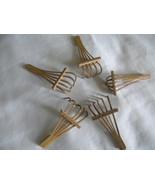 Five Small Vintage Wooden Rakes for Bonsai or Japanese  Garden - $16.00