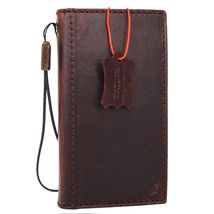 genuine Natural leather Case for iPhone 7 book wallet cover classic holder rope - $39.99