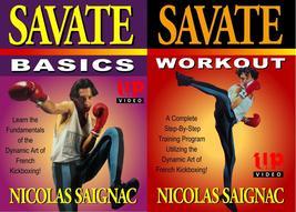 2 DVD Set Savate Basics & Workout French Kickboxing DVD Champ Nicolas Sa... - $39.99