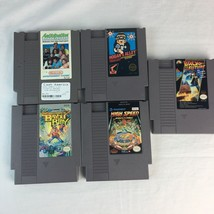 Vintage Nintendo Game Lot 5 Back to Future, High Speed, Hogans Alley, Ba... - $28.04