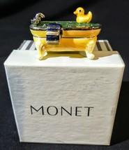 MONET TUB YELLOW RUBBER DUCKIE COLLECTIBLE ENAMEL TRINKET BOX~ RETIRED ~... - $48.16