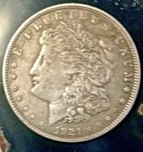 US Morgan Silver Dollar 1921 Nice circulated antique coin 90 % silver - $28.22