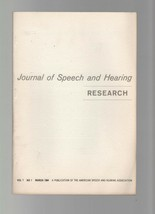 Journal of Speech & Hearing Research - September 1968 - Intelligibility ... - $7.35