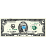 Thomas Jefferson with Mask on REAL TWO Dollar Bill Money Corona Pandemic... - $14.95