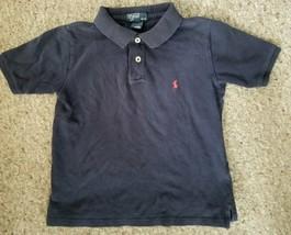 RALPH LAUREN Navy Blue Short Sleeve Polo Shirt Boys Size 6 - $3.88