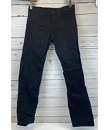 Levis 501 Jeans 33X34 Original Button Fly Slim Straight Leg Black Red Ta... - $33.33