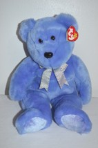 TY Beanie Buddies Collection Clubbie II Bear 1999 Periwinkle Blue with S... - $14.00
