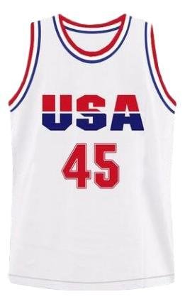 Donald trump  45 team usa custom basketball jersey white   1