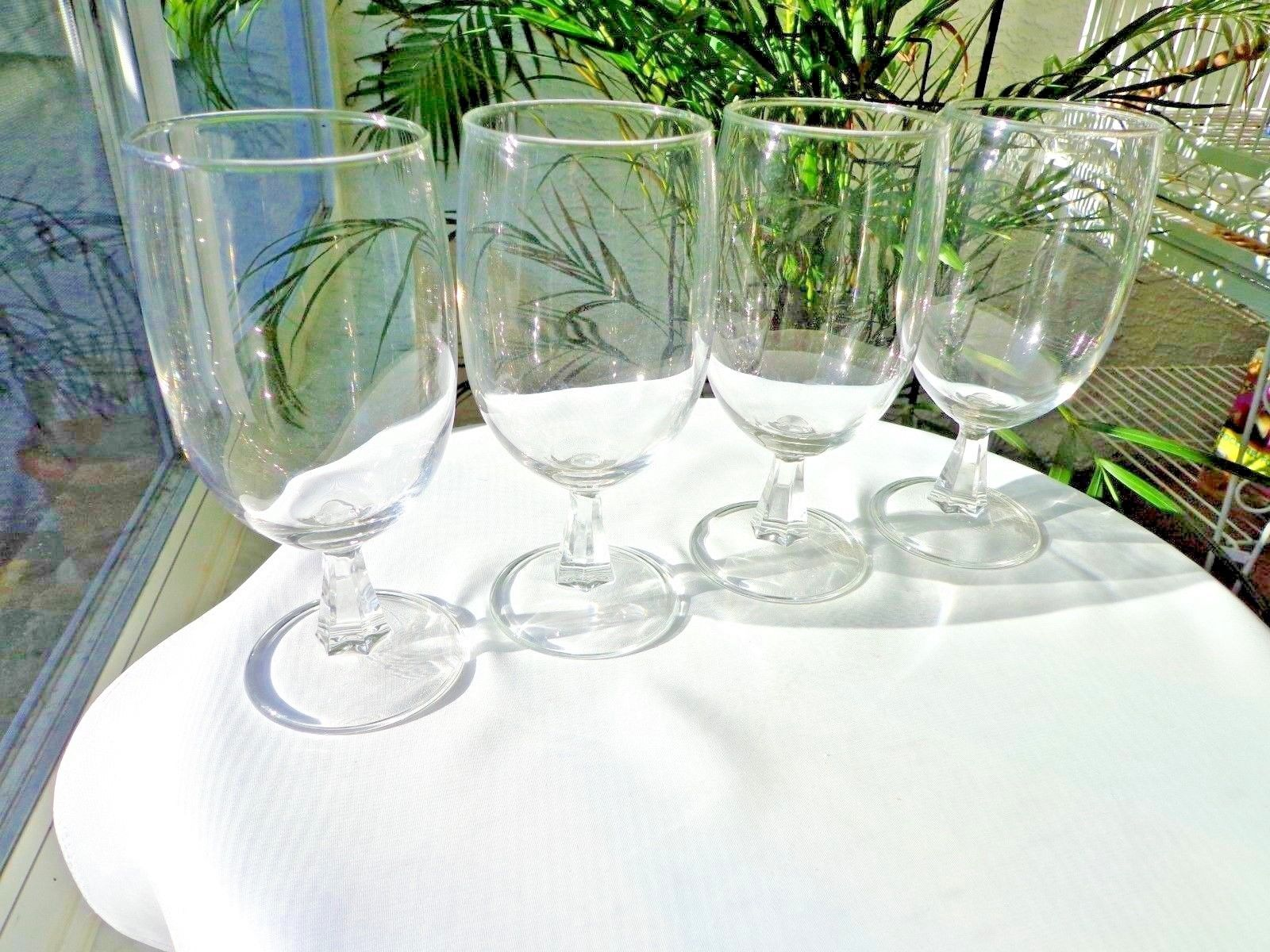 Set of 4 Kusak Clear Classic Pattern Iced Tea Glasses