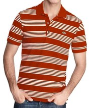 NEW NWT LACOSTE MEN'S PREMIUM SPORT ATHLETIC COTTON POLO SHIRT T-SHIRT ORANGE