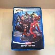 Disney Infinity Marvel Super Heroes Blue Carrying Case 17 Slots Zipper Handles - $34.99