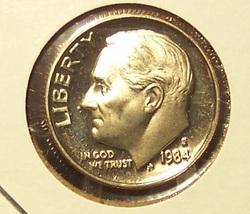 1984-S Deep Cameo Proof Roosevelt Dime #0803 - $1.99