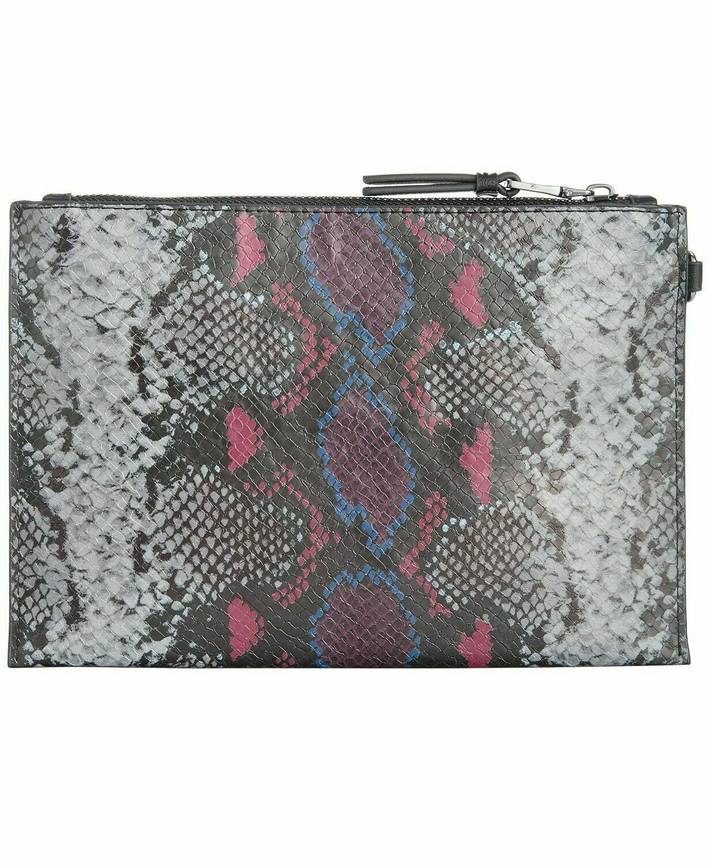 INC molyy Gray Wristlet Glam Party Clutch Multi-snake Handbag - new with tags