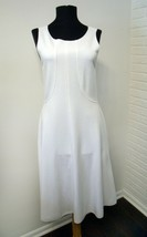 Armani Collezioni White Minimalist Stretch Knit Dress - size 6 Small - $61.79