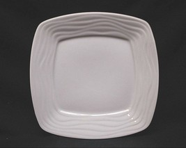 "Classic Imperial White Wavy Ceramic 8-1/4"" Square Salad Plate China Dinn... - $14.84"