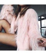 New Women Fluffy Faux Fur Coat 2018 Autumn Winter Warm Shaggy Fur Jacket... - $83.96+