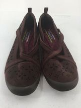 Skechers Womens 8M Shoes Wedge Wine Color Memory Foam image 3