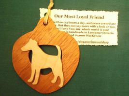 Jack Russell Dog Ornament personalized with your dog's name - $12.00
