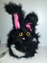 F13 * Professional Black w/White Spots Muppet Style Ventriloquist Bunny Puppet - $15.00