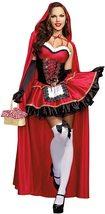 Women's Dream Girl Little Red Riding Hood Deluxe Fantasy Costume Set