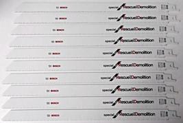 """Bosch SRD12 12"""" x 10/14T BiM Rescue & Demolition Reciprocating Blades 10 Blades - $21.78"""