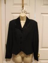 New In Pkg Frederick's Of Hollywood Vintage Tuxedo Style Jacket Size 9/10 - $29.69