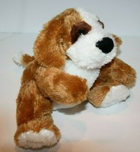 "Kellytoy DOG Hand Puppet 9"" Brown White Plush Black Nose Soft Toy Stuffe... - $15.42"