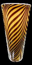 Stunning Italian 1950s Dino Martens Mid Century Modern Zebra Art Glass Vase - $1,297.55