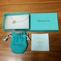 Tiffany & Co. Sterling Silver Full Heart Necklace Pendant with Pouch, Box - $89.17