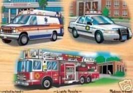MELISSA & DOUG EMERGENCY VEHICLES LIGHT & SOUND PUZZLE 2760 - $9.61