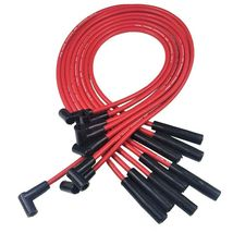 SBC BBC CHEVY 283 327 350 396 454 502 HEI DISTRIBUTOR + RED 8mm SPARK PLUG WIRES image 5