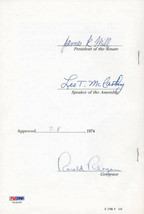 Ronald Reagan Autographed Signed 1974 California State Law Senate Docume... - $1,999.00