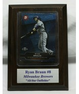 Milwaukee Brewers Ryan Brown #8 FRAMED PHOTO-MAN CAVE ART WALL PLAQUE - $19.79