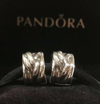PANDORA BRAIDED CLIPS STERLING SILVER PANDORA CLIPS SET RETIRED PANDORA ... - $39.99