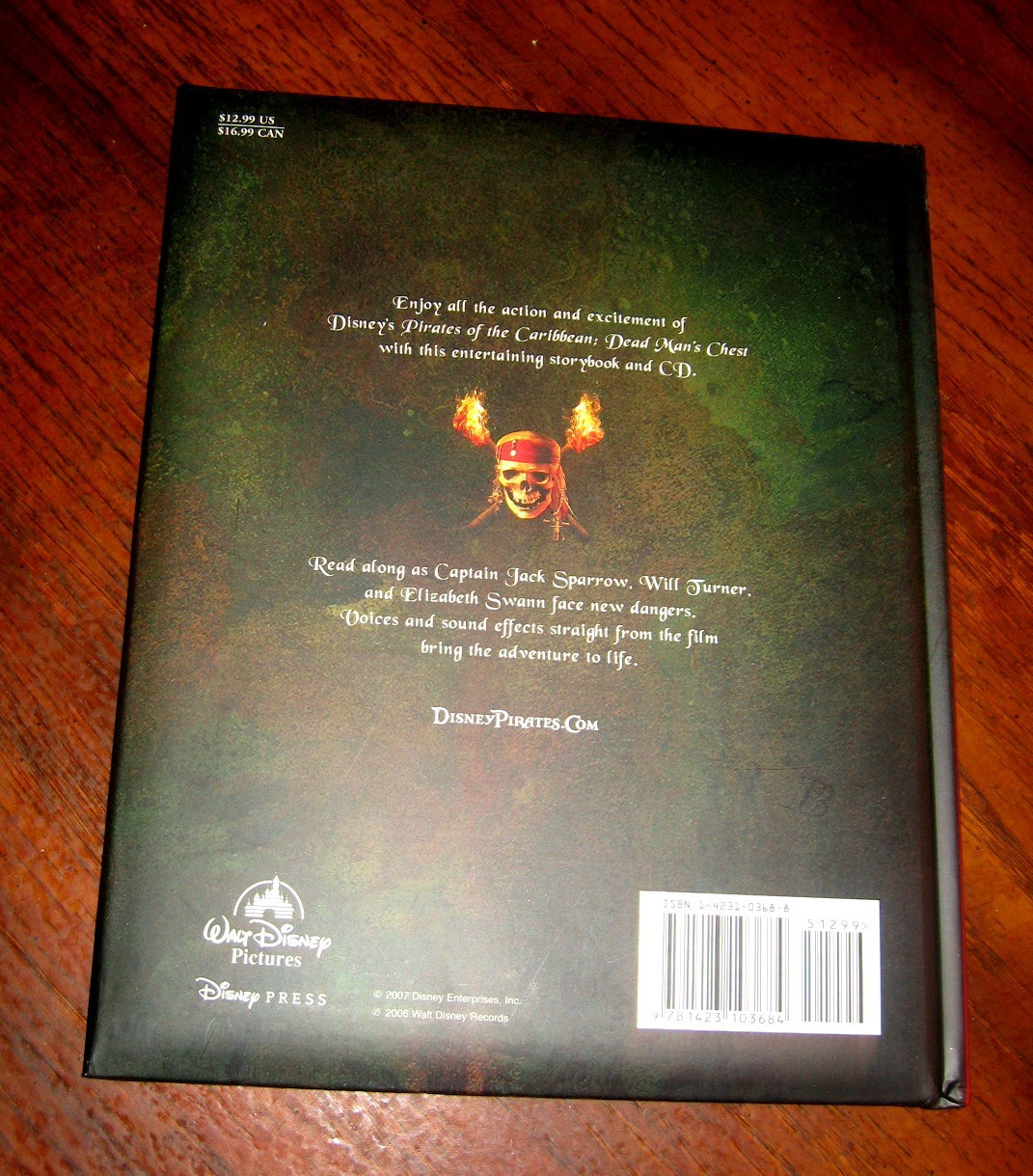 Disney Pirates of the Caribbean, Dead Man's Chest, Storybook & CD, sound effects
