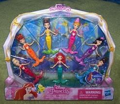 Disney Princess Little Mermaid Sisters 7 Mini Doll Pack New - $26.88