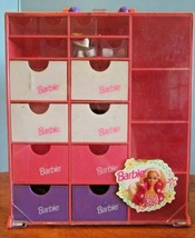 Vintage 1993 Barbie Accessory Wardrobe Shoe Storage Carrying Case W/SHOES - $34.65
