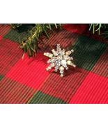 Cookie Lee Christmas Starburst Brooch - Genuine Austrian Crystal, #11117... - $14.00