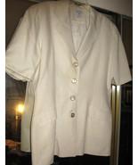 George Georgiou 100% Silk Jacket size XL, Ivory, Fully Lined, Elegant St... - $27.16