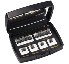 3D Magnetic False Eyelashes Reusable Fake Eyelashes No Glue Mirror Case ... - $6.79+