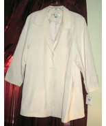 IVORY COAT BY VALERIE STEVENS PETITES, SIZE PM, BRAND NEW WITH TAGS WAS ... - $39.99