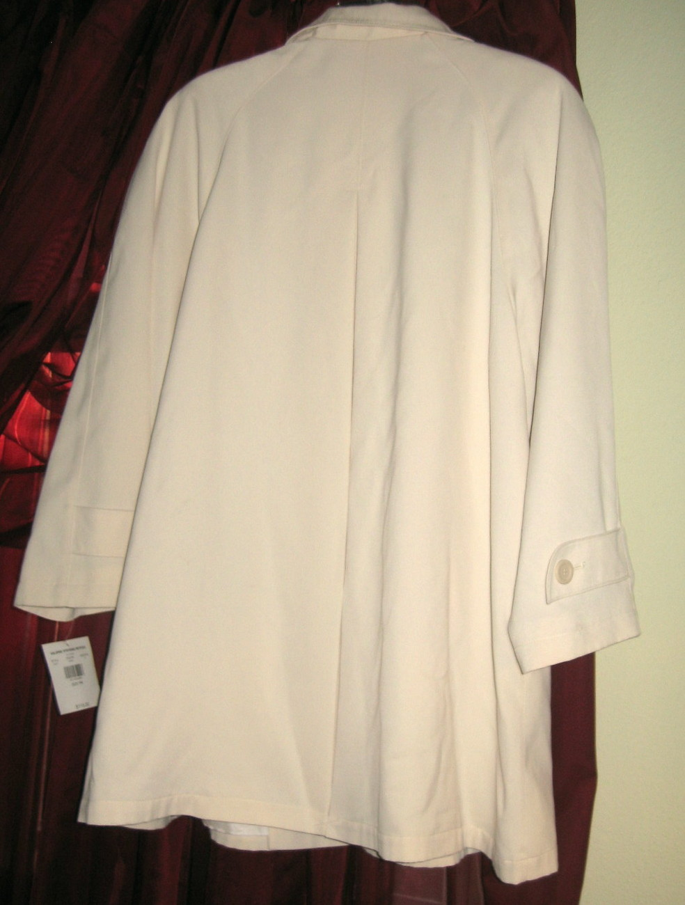 IVORY COAT BY VALERIE STEVENS PETITES, SIZE PM, BRAND NEW WITH TAGS WAS $115.
