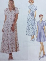 McCalls Sewing Pattern 8055 Dress Long Tie Back Button Front Size 4 6 8 - $7.91