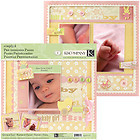 K&Company BABY GIRL 12x12 Pre-Designed Page Kit - Fully Assembled PHOTO READY!