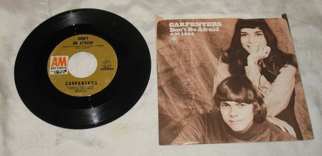 Carpenters For All We Know 45 Vinyl AM 1243