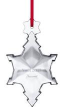 BACCARAT 2017 Annual Noel Ornament Snowflake Christmas Clear Crystal Sealed NIB - $74.25