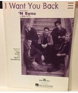 I Want You Back 'N Sync Sheet Music - $4.99