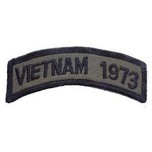 VIETNAM 1973 OD SUBDUED SHOULDER ROCKER TAB EMBROIDERED MILITARY PATCH - $13.53